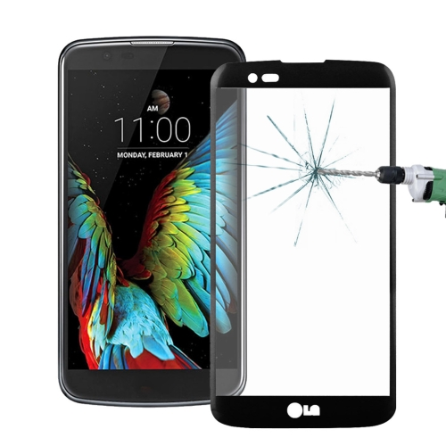 Buy For LG K10 0.26mm 9H Surface Hardness 3D Explosion-proof Colorized Silk-screen Tempered Glass Full Screen Film, Black for $2.67 in SUNSKY store