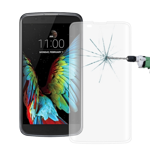 Buy For LG K10 0.26mm 9H Surface Hardness 3D Explosion-proof Colorized Silk-screen Tempered Glass Full Screen Film, Transparent for $2.67 in SUNSKY store