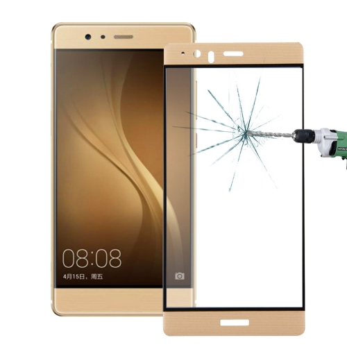 Buy Huawei P9 Plus 0.26mm 9H Surface Hardness 3D Explosion-proof Colorized Silk-screen Tempered Glass Full Screen Film, Gold for $2.67 in SUNSKY store