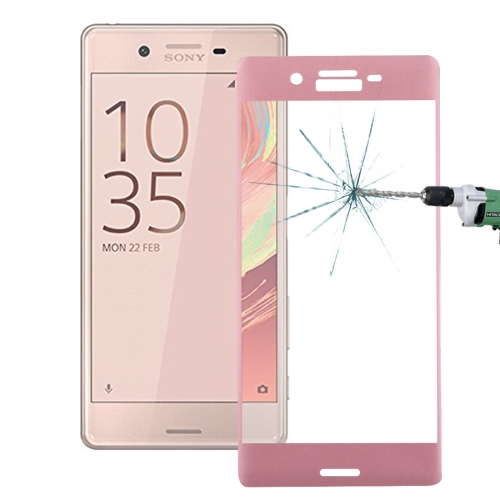 Buy For Sony Xperia X 0.26mm 9H Surface Hardness 3D Explosion-proof Colorized Silk-screen Tempered Glass Full Screen Film, Pink for $2.67 in SUNSKY store