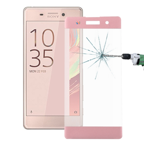 Buy For Sony Xperia XA 0.26mm 9H Surface Hardness 3D Explosion-proof Colorized Silk-screen Tempered Glass Full Screen Film, Pink for $2.67 in SUNSKY store