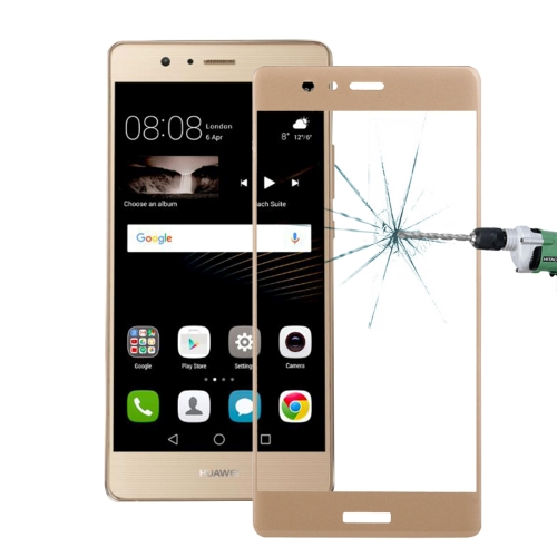 Buy Huawei P9 0.26mm 9H Surface Hardness 3D Curved Explosion-proof Colorized Silk-screen Tempered Glass Full Screen Film, Gold for $2.67 in SUNSKY store