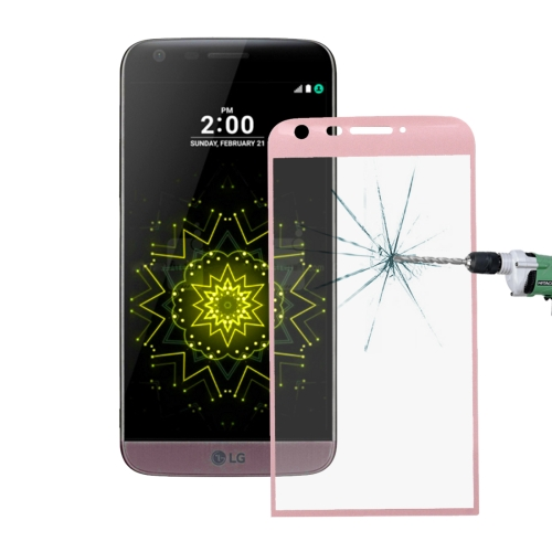 Buy For LG G5 0.26mm 9H Surface Hardness 3D Curved Explosion-proof Colorized Silk-screen Tempered Glass Full Screen Film (Rose Gold) for $2.67 in SUNSKY store