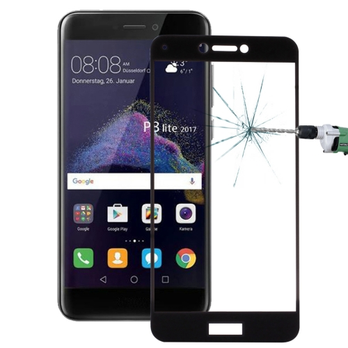 For Huawei P8 Lite (2017) 0.26mm 9H Surface Hardness Explosion-proof Full Screen Tempered Glass Screen Film(Black)