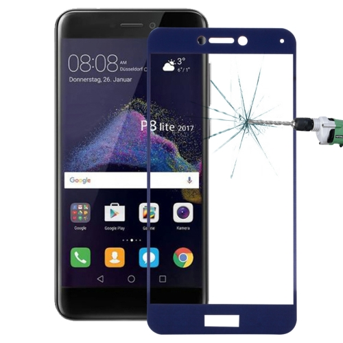 Buy Huawei P8 Lite, 2017 0.26mm 9H Surface Hardness Explosion-proof Full Screen Tempered Glass Screen Film (Dark Blue) for $1.34 in SUNSKY store