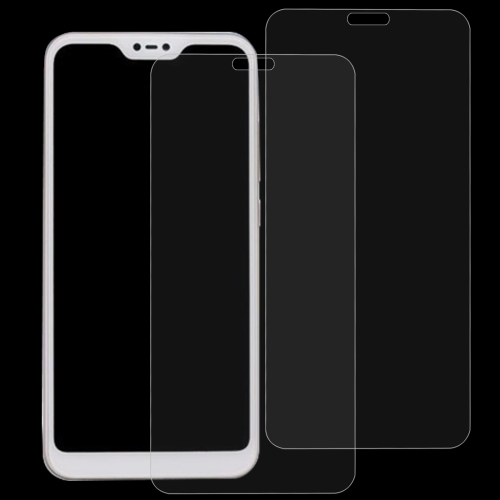 2 PCS 0.26mm 9H 2.5D Tempered Glass Film for Xiaomi Redmi 6 Pro / Mi A2 Lite