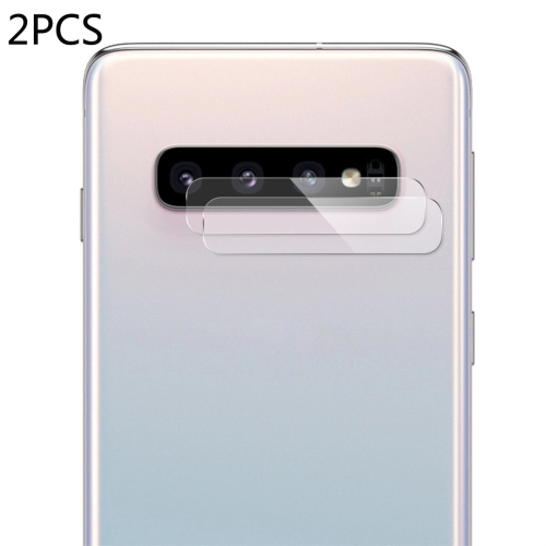 2 PCS ENKAY Hat-Prince 0.2mm 9H 2.15D Curved Explosion-proof Rear Camera Lens Protector Tempered Glass Film for Galaxy S10 / S10 Plus