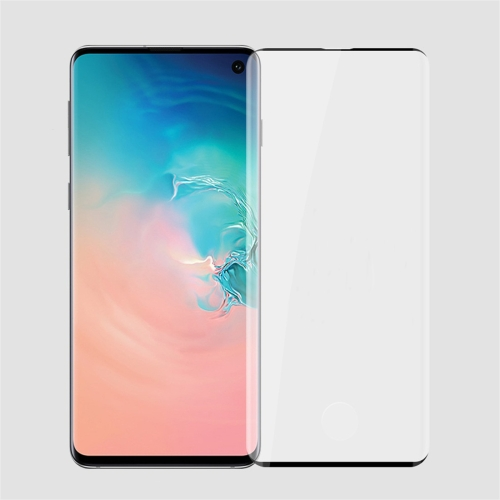 PINWUYO 9H 3D Curved Heat Bending Full Screen Tempered Glass Film for Galaxy S10 (Black)