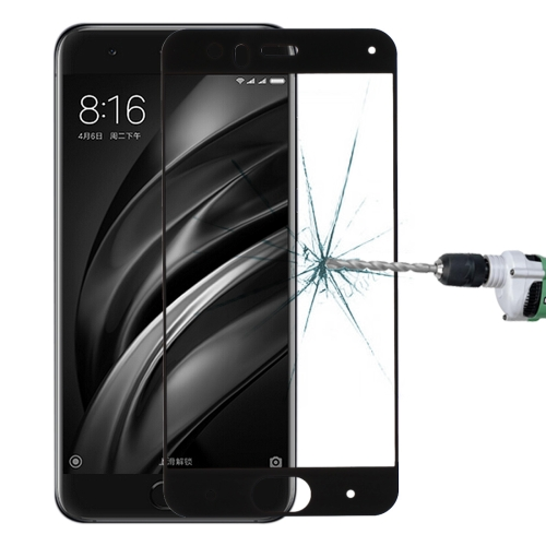 Buy Xiaomi Mi 6 0.33mm 9H Surface Hardness Silk-screen Full Screen Tempered Glass Screen Protector, Black for $1.34 in SUNSKY store