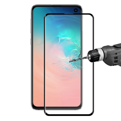 ENKAY Hat-Prince 0.26mm 9H 3D Curved Surface Full Screen Cover Hot Bending Tempered Color Film for Galaxy S10e (Black)