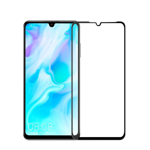 MOFI 9H 3D Explosion-proof Curved Screen Tempered Glass Film for Huawei P30 Lite (Black)