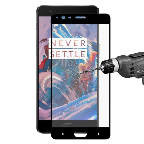Buy ENKAY Hat-Prince OnePlus 3 & 3T 0.26mm 9H Hardness 2.5D Explosion-proof Full Screen Curved Tempered Glass Color Screen Film, Black for $2.28 in SUNSKY store
