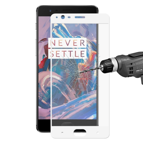 Buy ENKAY Hat-Prince OnePlus 3 & 3T 0.26mm 9H Hardness 2.5D Explosion-proof Full Screen Curved Tempered Glass Color Screen Film, White for $2.28 in SUNSKY store