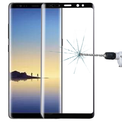 For Galaxy Note 8 0.3mm 9H Surface Hardness 3D Curved Silk-screen Full Screen Tempered Glass Screen Protector(Black)