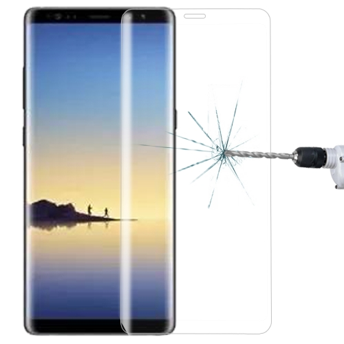 For Galaxy Note 8 0.3mm 9H Surface Hardness 3D Curved Silk-screen Full Screen Tempered Glass Screen Protector(Transparent)