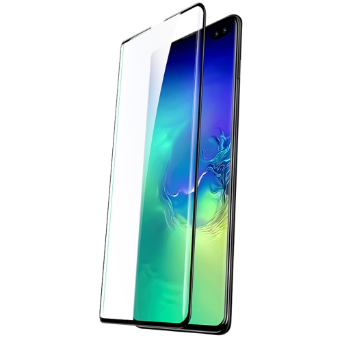 USAMS US-BH497 0.33mm 9H Curved Surface Full Screen Tempered Glass Film for Galaxy S10 Plus