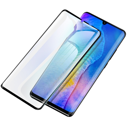 USAMS US-BH498 0.33mm 9H Curved Surface Full Screen Tempered Glass Film for Huawei P30 Pro