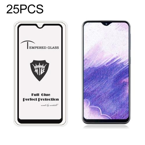 25 PCS MIETUBL Full Screen Full Glue Anti-fingerprint Tempered Glass Film for Galaxy A20e (Black)