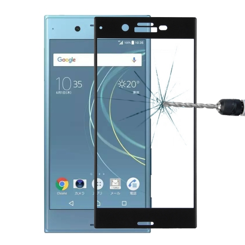 Buy For Sony Xperia XZs 0.33mm 9H Surface Hardness 3D Curved Full Screen Tempered Glass Screen Protector, Black for $2.66 in SUNSKY store