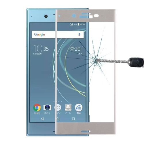 Buy For Sony Xperia XZs 0.33mm 9H Surface Hardness 3D Curved Full Screen Tempered Glass Screen Protector, Silver for $2.66 in SUNSKY store