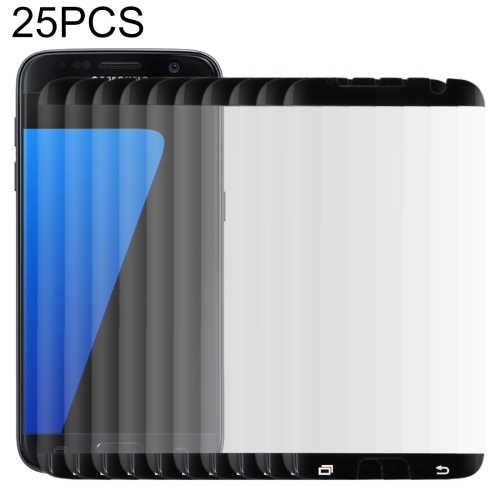 25 PCS For Galaxy S7 Edge / G935 0.26mm 9H Surface Hardness Curved Surface Non-full Screen Tempered Glass Film (Black)