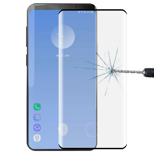 0.3mm 9H 3D Full Screen Tempered Glass Film for Galaxy S10, Screen Fingerprint Unlocking is Supported
