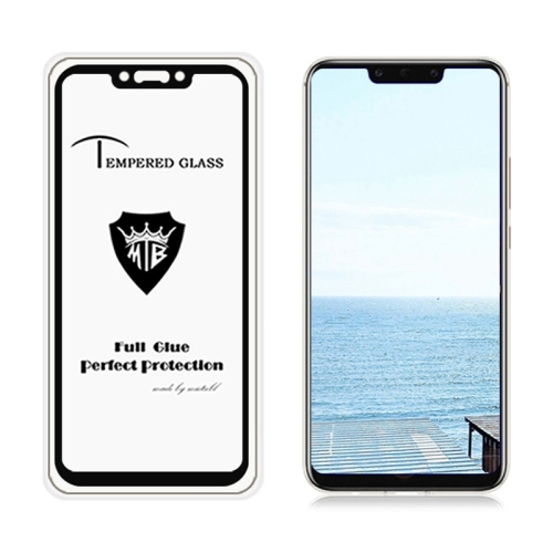 MIETUBL Full Screen Full Glue Anti-fingerprint Tempered Glass Film for Huawei Mate 20 Lite(Black)