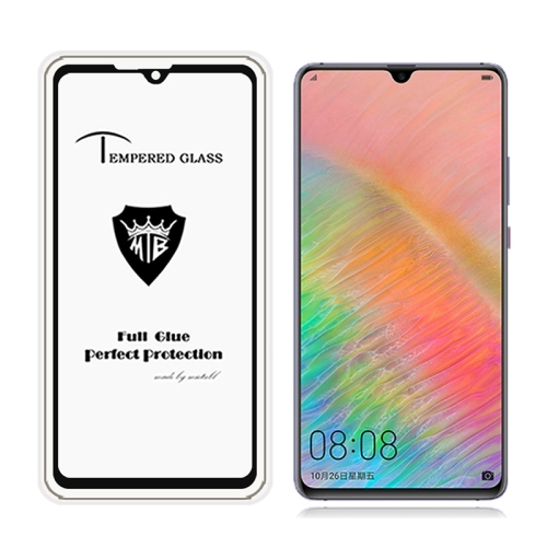 MIETUBL Full Screen Full Glue Anti-fingerprint Tempered Glass Film for Huawei Mate 20 X (Black)