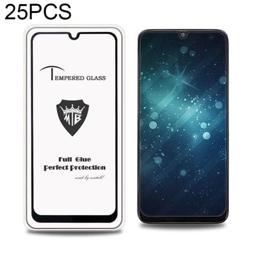 25 PCS MIETUBL Full Screen Full Glue Anti-fingerprint Tempered Glass Film for Galaxy M30 & A50(Black)