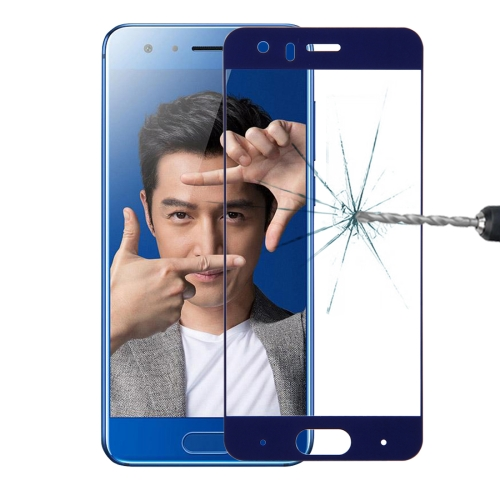 Buy Huawei Honor 9 0.26mm 9H Surface Hardness 2.5D Explosion-proof Silk-screen Tempered Glass Full Screen Film, Blue for $1.34 in SUNSKY store