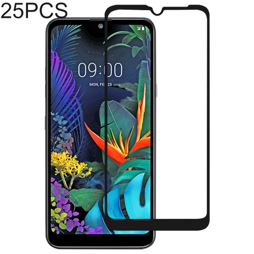 25 PCS 9H Full Screen Full Tempered Glass Film for LG X6 (2019) / Q60 / K50