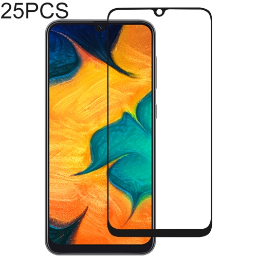 25 PCS Full Glue Full Cover Screen Protector Tempered Glass film for Galaxy A30 & A50 & M30 & A40S