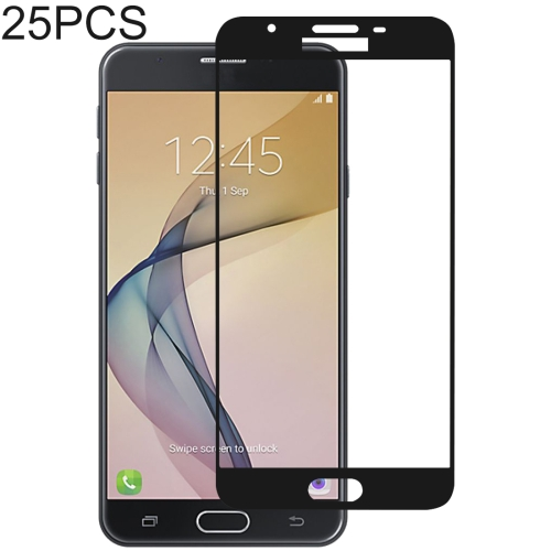 25 PCS Full Glue Full Cover Screen Protector Tempered Glass film for Galaxy J7 Prime