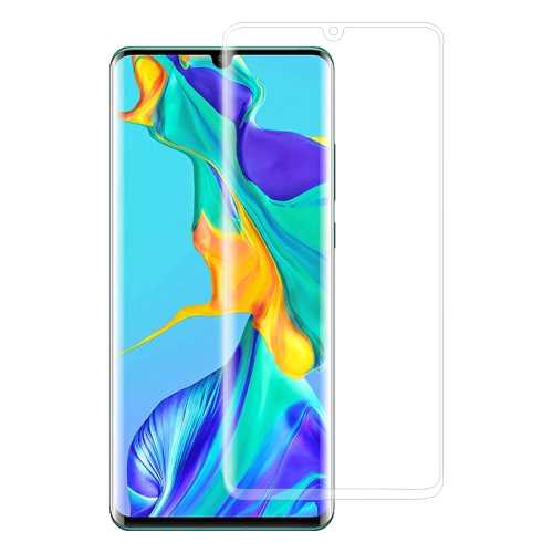 Edge Glue 3D Curved Edge Full Screen Tempered Glass Film for Huawei P30 Pro(Transparent)