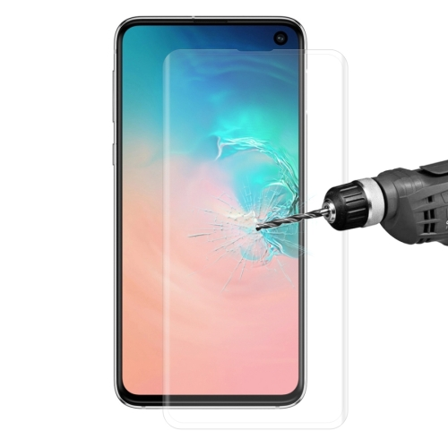 Edge Glue 3D Curved Edge Full Screen Tempered Glass Film for Galaxy S10, Fingerprint Unlock Is Not Supported(Transparent)