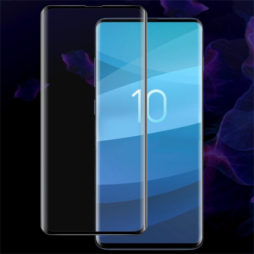 IMAK 9H 3D Curved Surface Full Screen Tempered Glass Film for Galaxy S10, Support Fingerprint Unlocking