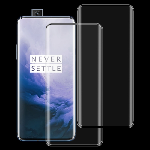 2 PCS 9H Full Screen Curved Edge Tempered Glass Film for OnePlus 7 Pro