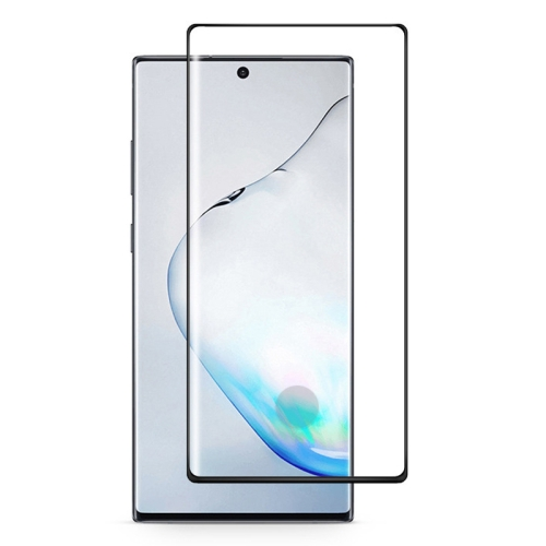 For Galaxy Note 10 Full Glue 3D Curved Edge Tempered Glass Film, Fingerprint Unlock Is Supported(Black) фото
