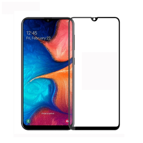 MOFI 9H 3D Explosion-proof Curved Screen Tempered Glass Film for Galaxy A20 (Black)