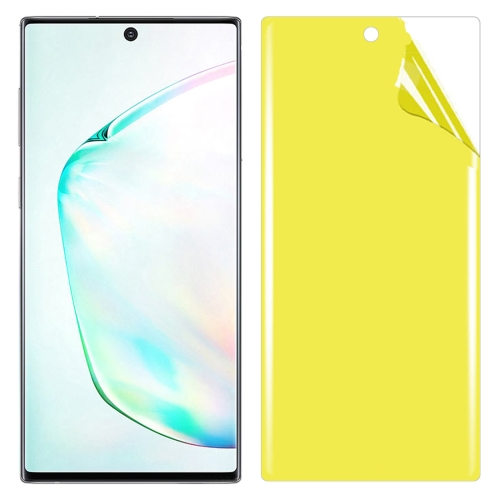 For Galaxy Note 10+ Soft TPU Full Coverage Front Screen Protector