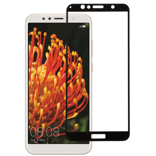 0.26mm 9H 2.5D Anti-scratch Silk-screen Tempered Glass Full Screen Film for Huawei Y6 (2018) (Black)  - buy with discount