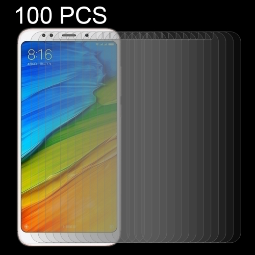 100 PCS for Xiaomi Redmi 5 Plus 0.26mm 9H Surface Hardness 2.5D Curved Edge Tempered Glass Screen Protector benks tempered glass for xiaomi 5 2 5d radians screen protector