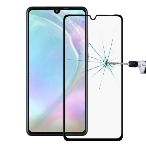 9H 9D Full Screen Tempered Glass Screen Protector for Huawei P30 Lite(Black)