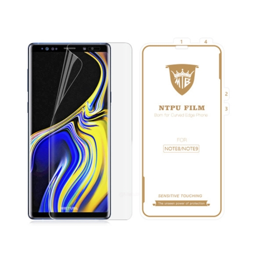 MIETUBL 0.15mm Curved Full Screen Protector Hydrogel Film Front Protector for Galaxy Note 8 / Note 9