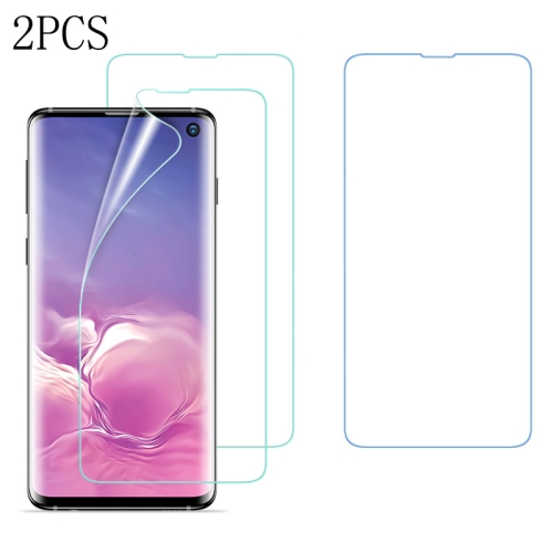 2 PCS ESR 0.15mm 3D Curved Full Screen Protector Hydrogel Film Front Protector for Galaxy S10, Fingerprint Unlocking Is Supported