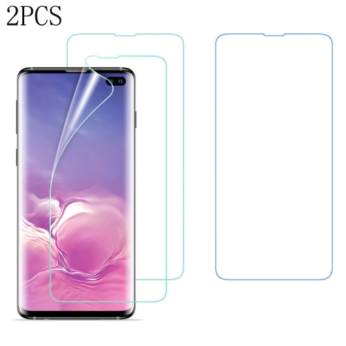 2 PCS ESR 0.15mm 3D Curved Full Screen Protector Hydrogel Film Front Protector for Galaxy S10+, Fingerprint Unlocking Is Supported