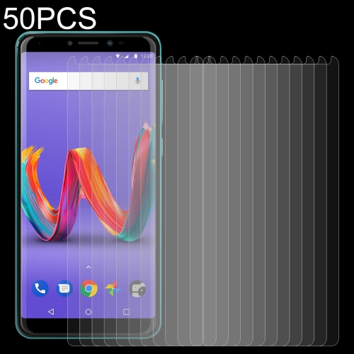 50 PCS For Wiko View 2 Plus 0.26mm 9H Surface Hardness 2.5D Tempered Glass Film Front Screen Protector