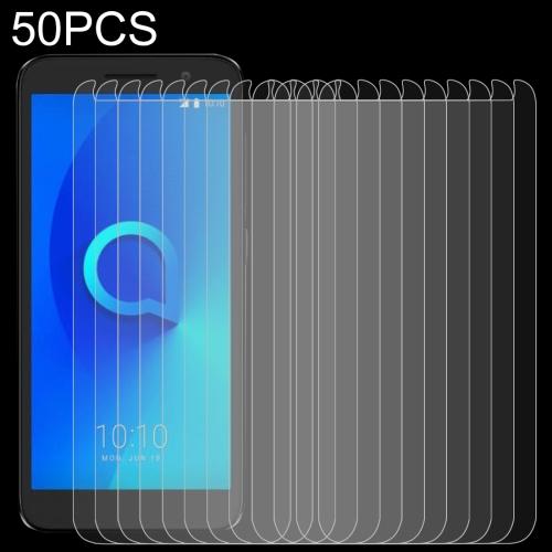 50 PCS 0.26mm 9H 2.5D Tempered Glass Film for Alcatel 1 5033