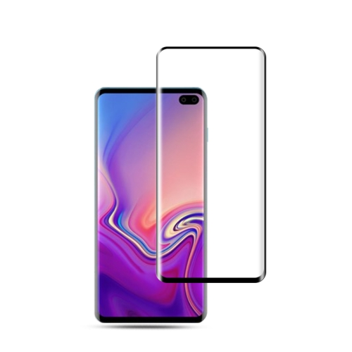 mocolo 0.33mm 9H 3D Round Edge Tempered Glass Film for Galaxy S10, Fingerprint Unlock Is Not Supported (Black)