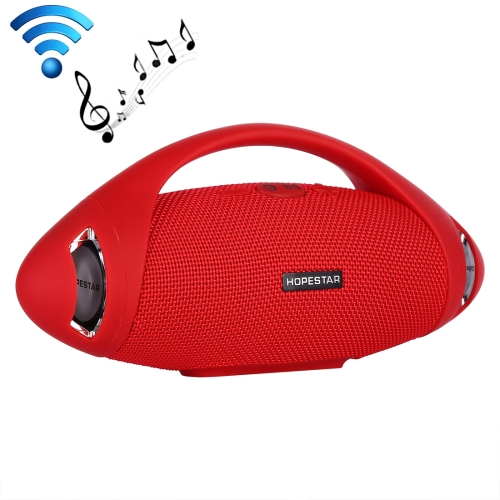 HOPESTAR H37 Waterproof Portable Stereo Wireless Bluetooth Speaker with Built-in Microphone, Support U Disk & MP3(Red)
